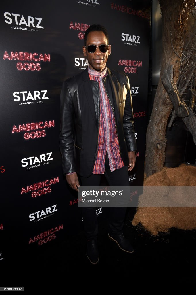 Actor Orlando Jones attends the 'American Gods' premiere at ArcLight Hollywood on April 20, 2017 in Los Angeles, California.