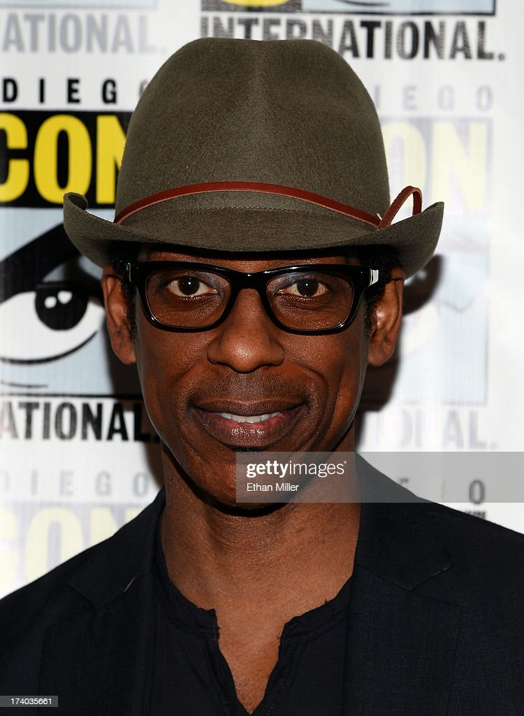Actor <a gi-track='captionPersonalityLinkClicked' href=/galleries/search?phrase=Orlando+Jones&family=editorial&specificpeople=228483 ng-click='$event.stopPropagation()'>Orlando Jones</a> attends the 'Sleepy Hollow' press line during Comic-Con International 2013 at the Hilton San Diego Bayfront Hotel on July 19, 2013 in San Diego, California.