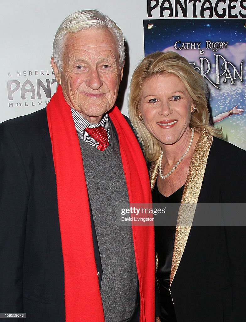 Actor <a gi-track='captionPersonalityLinkClicked' href=/galleries/search?phrase=Orson+Bean&family=editorial&specificpeople=665149 ng-click='$event.stopPropagation()'>Orson Bean</a> (L) and wife actress <a gi-track='captionPersonalityLinkClicked' href=/galleries/search?phrase=Alley+Mills&family=editorial&specificpeople=665148 ng-click='$event.stopPropagation()'>Alley Mills</a> attend the opening night of 'Peter Pan' at the Pantages Theatre on January 15, 2013 in Hollywood, California.