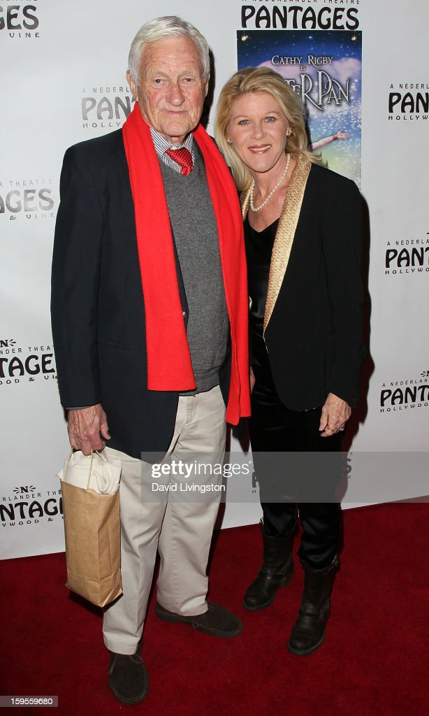 Actor Orson Bean (L) and wife actress Alley Mills attend the opening night of 'Peter Pan' at the Pantages Theatre on January 15, 2013 in Hollywood, California.