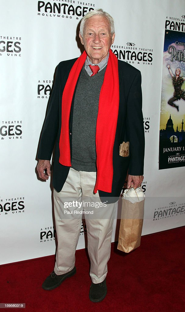 Actor <a gi-track='captionPersonalityLinkClicked' href=/galleries/search?phrase=Orson+Bean&family=editorial&specificpeople=665149 ng-click='$event.stopPropagation()'>Orson Bean</a> arrives at 'Peter Pan' Los Angeles play opening night at the Pantages Theatre on January 15, 2013 in Hollywood, California.