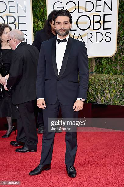 Actor Oscar Isaac attends the 73rd Annual Golden Globe Awards held at the Beverly Hilton Hotel on January 10 2016 in Beverly Hills California