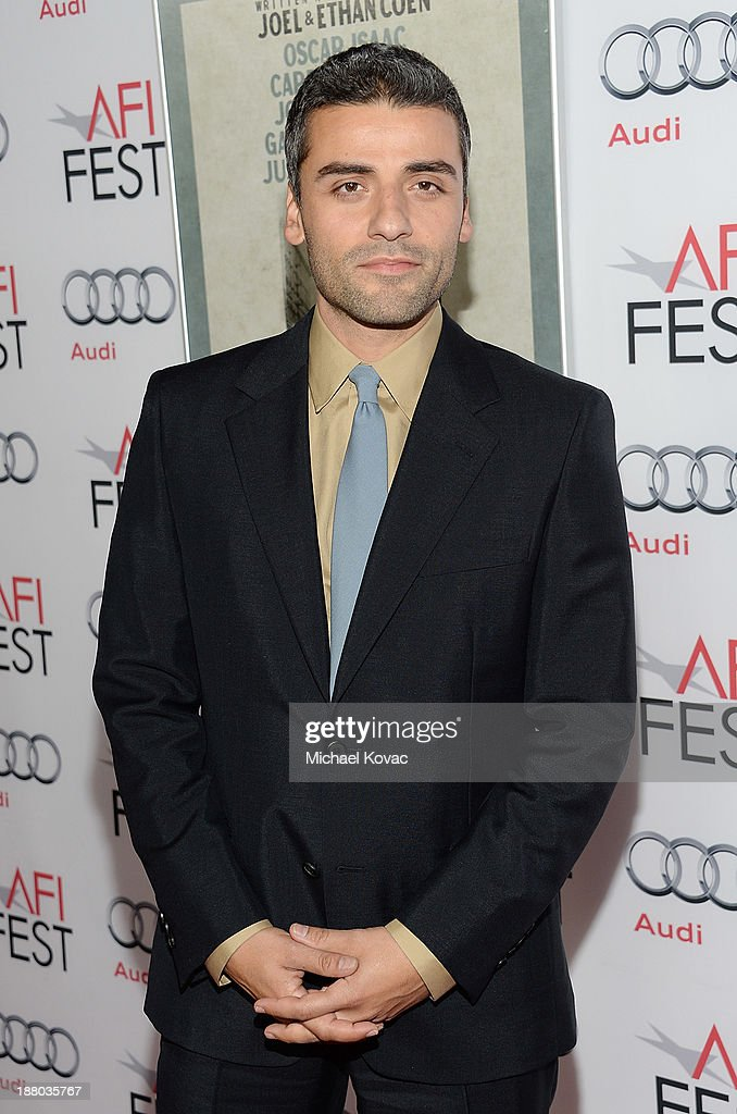 Actor <a gi-track='captionPersonalityLinkClicked' href=/galleries/search?phrase=Oscar+Isaac&family=editorial&specificpeople=2275888 ng-click='$event.stopPropagation()'>Oscar Isaac</a> attends the AFI FEST 2013 presented by Audi closing night gala screening of 'Inside Llewyn Davis' at TCL Chinese Theatre on November 14, 2013 in Hollywood, California.