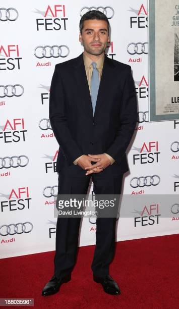 Actor Oscar Isaac attends the AFI FEST 2013 presented by Audi Closing Night Gala Screening of 'Inside Llewyn Davis' at the TCL Chinese Theatre on...