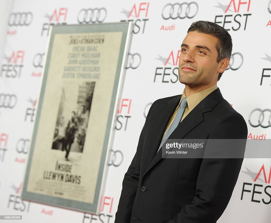 Actor <a gi-track='captionPersonalityLinkClicked' href=/galleries/search?phrase=Oscar+Isaac&family=editorial&specificpeople=2275888 ng-click='$event.stopPropagation()'>Oscar Isaac</a> attends the AFI Premiere Screening of 'Inside Llewyn Davis' at TCL Chinese Theatre on November 14, 2013 in Hollywood, California.