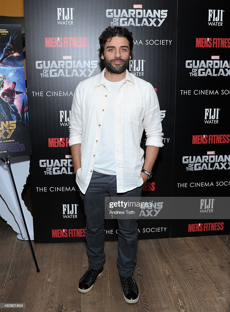 Actor <a gi-track='captionPersonalityLinkClicked' href=/galleries/search?phrase=Oscar+Isaac&family=editorial&specificpeople=2275888 ng-click='$event.stopPropagation()'>Oscar Isaac</a> attends The Cinema Society with Men's Fitness & FIJI Water host a screening of 'Guardians of the Galaxy' on July 29, 2014 in New York City.