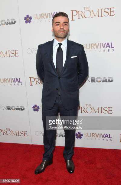 Actor Oscar Isaac attends 'The Promise' New York screening at The Paris Theatre on April 18 2017 in New York City