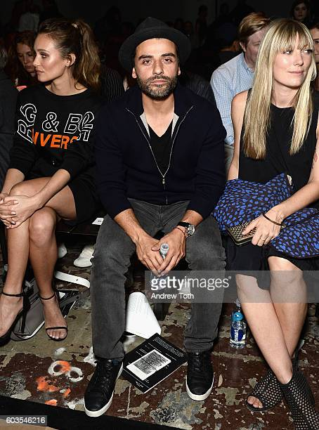 Actor Oscar Isaac attends the Rag Bone fashion show during New York Fashion Week September 2016 at Skylight Clarkson North on September 12 2016 in...