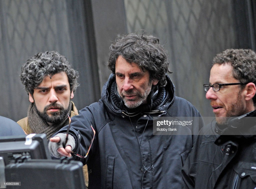 Actor <a gi-track='captionPersonalityLinkClicked' href=/galleries/search?phrase=Oscar+Isaac&family=editorial&specificpeople=2275888 ng-click='$event.stopPropagation()'>Oscar Isaac</a>, Director <a gi-track='captionPersonalityLinkClicked' href=/galleries/search?phrase=Joel+Coen&family=editorial&specificpeople=4292064 ng-click='$event.stopPropagation()'>Joel Coen</a> and Director <a gi-track='captionPersonalityLinkClicked' href=/galleries/search?phrase=Ethan+Coen&family=editorial&specificpeople=1130888 ng-click='$event.stopPropagation()'>Ethan Coen</a> filming on location for 'Inside Llewyn Davis' on March 1, 2012 in New York City.