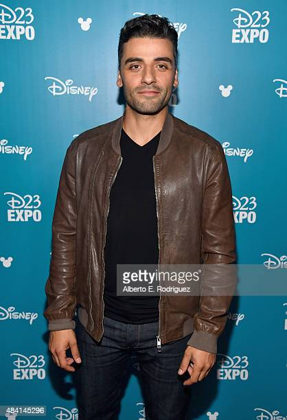Actor Oscar Isaac of STAR WARS THE FORCE AWAKENS took part today in 'Worlds Galaxies and Universes Live Action at The Walt Disney Studios'...