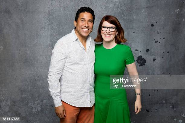 Actor Oscar Nunez and actress Kate Flannery are photographed in the LA Times photo studio at ComicCon 2017 in San Diego CA on July 21 2017 CREDIT...