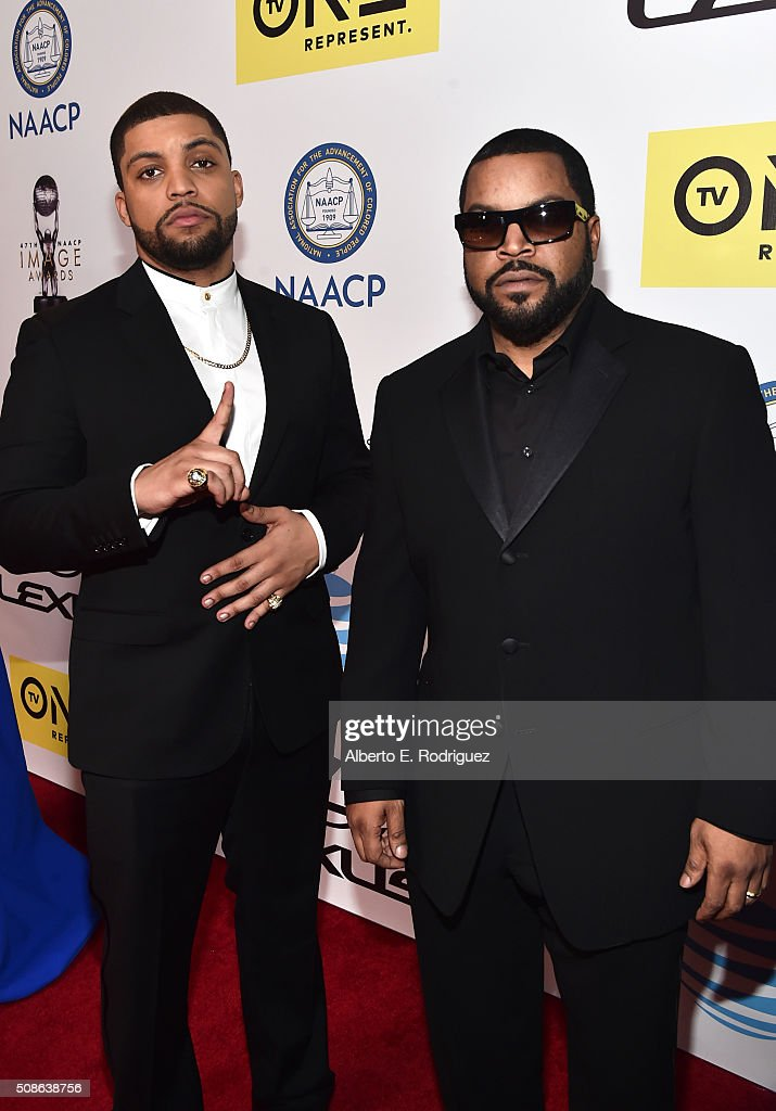Actor O'Shea Jackson and entertainer Ice Cube attend the 47th NAACP Image Awards presented by TV One at Pasadena Civic Auditorium on February 5 2016...