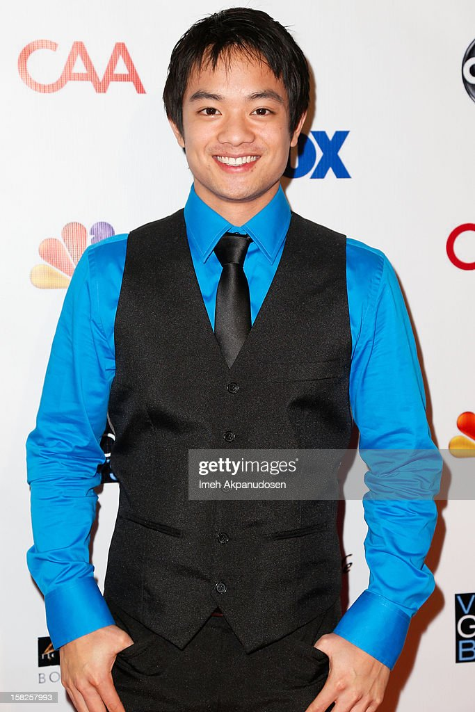 Actor Osric Chau attends the Junior Hollywood Radio & Television Society (JHRTS) Holiday Party at Boulevard3 on December 11, 2012 in Hollywood, California.
