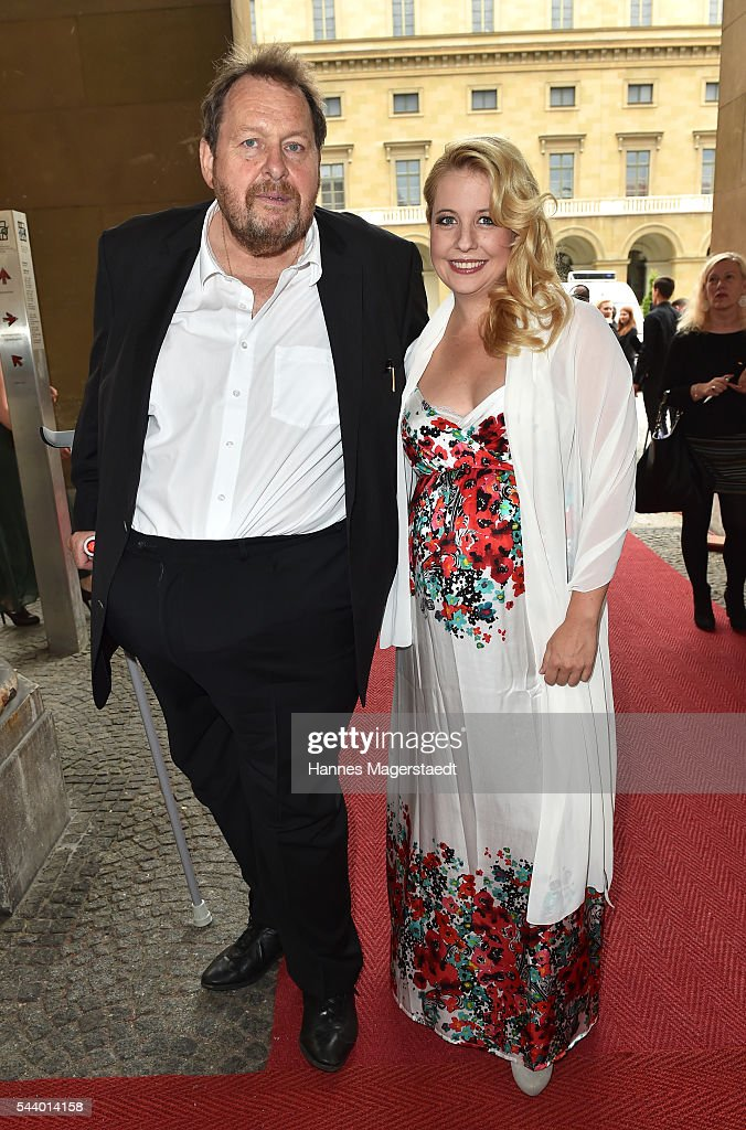 Actor <a gi-track='captionPersonalityLinkClicked' href=/galleries/search?phrase=Ottfried+Fischer&family=editorial&specificpeople=710060 ng-click='$event.stopPropagation()'>Ottfried Fischer</a> and Iva Schell attend the Bernhard Wicki Award (Friedenspreis des Deutschen Films) during the Munich Film Festival 2016 at Cuvilles Theatre on June 30, 2016 in Munich, Germany.