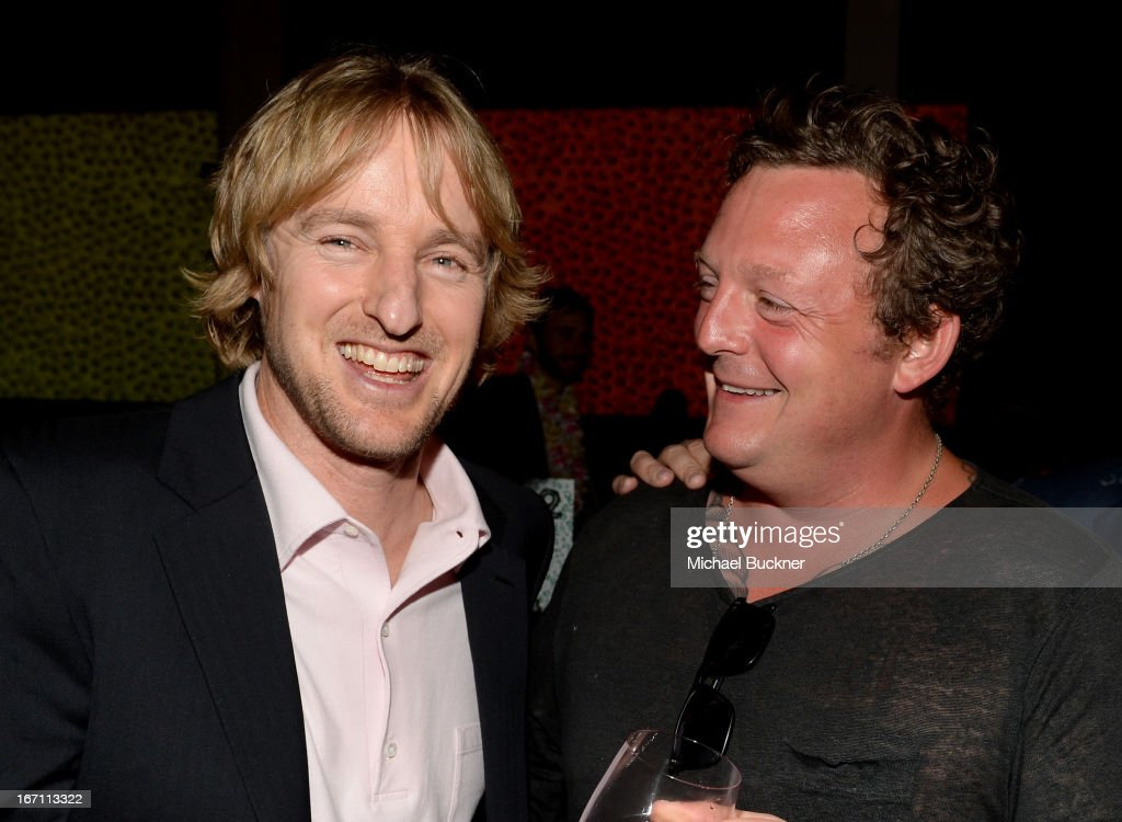 "Actor <a gi-track='captionPersonalityLinkClicked' href=/galleries/search?phrase=Owen+Wilson&family=editorial&specificpeople=202027 ng-click='$event.stopPropagation()'>Owen Wilson</a> (L) and artist <a gi-track='captionPersonalityLinkClicked' href=/galleries/search?phrase=Urs+Fischer+-+Artist&family=editorial&specificpeople=11709022 ng-click='$event.stopPropagation()'>Urs Fischer</a> attend ""Yesssss!"" MOCA Gala 2013, Celebrating the Opening of the Exhibition <a gi-track='captionPersonalityLinkClicked' href=/galleries/search?phrase=Urs+Fischer+-+Artist&family=editorial&specificpeople=11709022 ng-click='$event.stopPropagation()'>Urs Fischer</a>, at MOCA Grand Avenue and The Geffen Contemporary on April 20, 2013 in Los Angeles, California."