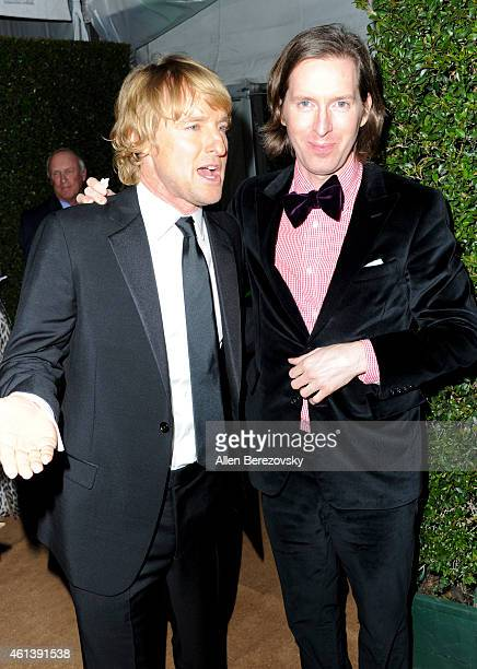 Actor Owen Wilson and director Wes Anderson attend the 2015 FOX Golden Globes Party at FOX Pavilion at the Golden Globes on January 11 2015 in...