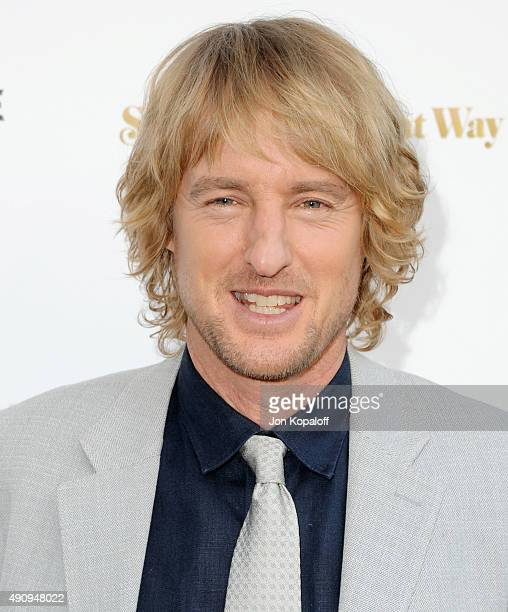 Actor Owen Wilson arrives at the Los Angeles Premiere 'She's Funny That Way' at Harmony Gold on August 19 2015 in Los Angeles California