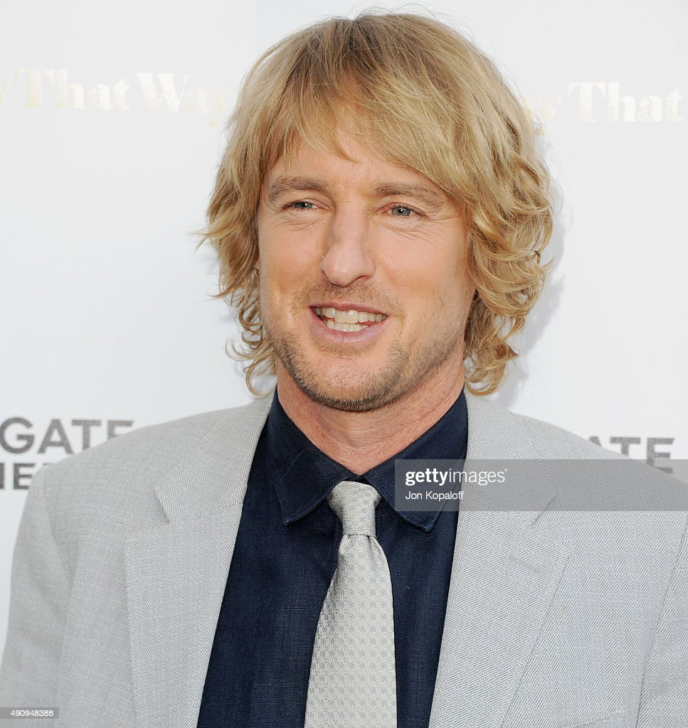 Actor Owen Wilson arrives at the Los Angeles Premiere 'She's Funny That Way' at Harmony Gold on August 19, 2015 in Los Angeles, California.
