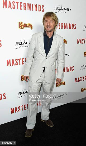 Actor Owen Wilson arrives at the Premiere of Relativity Media's 'Masterminds' at TCL Chinese Theatre on September 26 2016 in Hollywood California