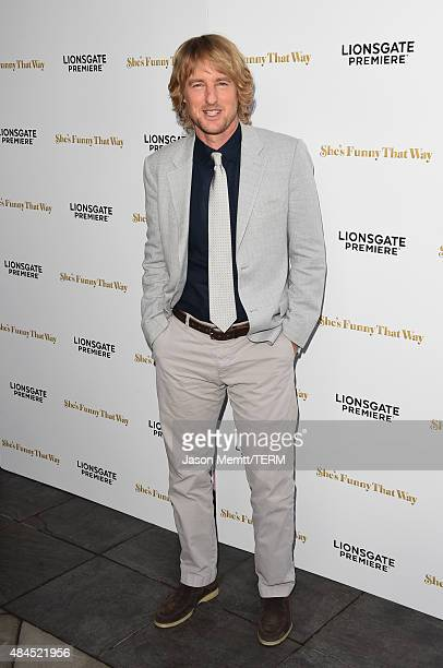 Actor Owen Wilson attends the premiere of Lionsgate Premiere's 'She's Funny That Way' at Harmony Gold on August 19 2015 in Los Angeles California