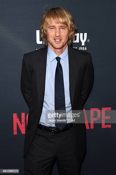 Actor Owen Wilson attends the premiere of the Weinstein Company's 'No Escape' at Regal Cinemas LA Live on August 17 2015 in Los Angeles California