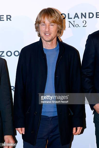 Actor Owen Wilson attends the 'Zoolander 2' Paris Photocall at Hotel Plaza Athenee on January 29 2016 in Paris France