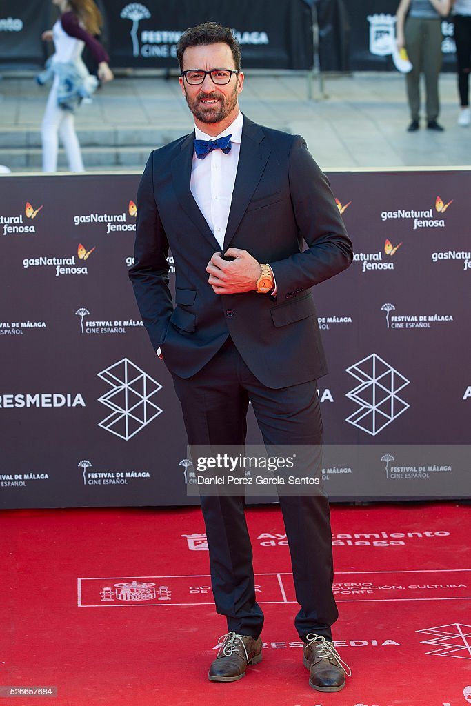 Actor Pablo Pujol attends 'Nuestros Amantes' premiere during the 19th Malaga Film Festival at the Cervantes Teather on April 30, 2016 in Malaga, Spain.