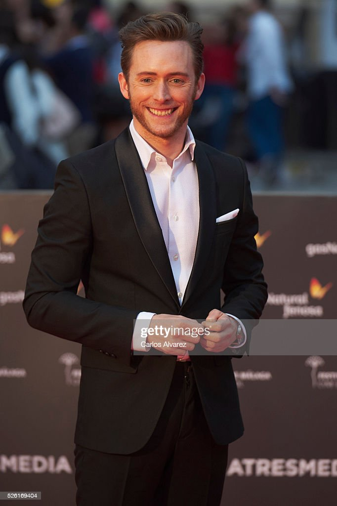 Actor Pablo Rivero attends 'Koblic' premiere at the Cervantes Teather during the 19th Malaga Film Festival on April 29, 2016 in Malaga, Spain.
