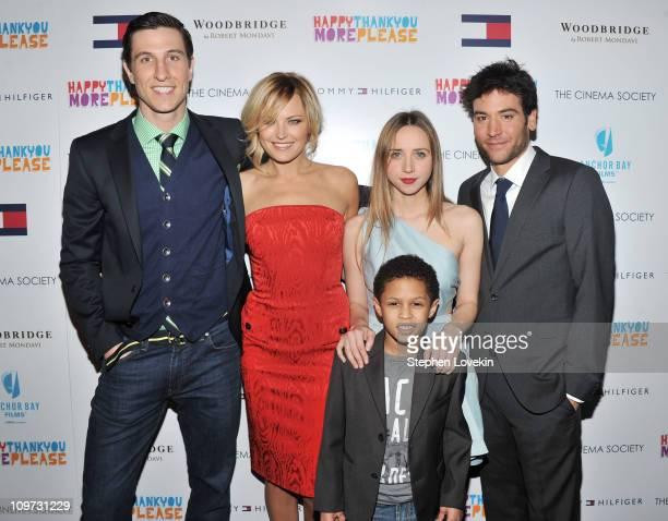 Actor Pablo Schreiber Actress Malin Akerman Actress Zoe Kazan Director Josh Radnor and Actor Michael Algieri attend the Cinema Society Tommy Hilfiger...