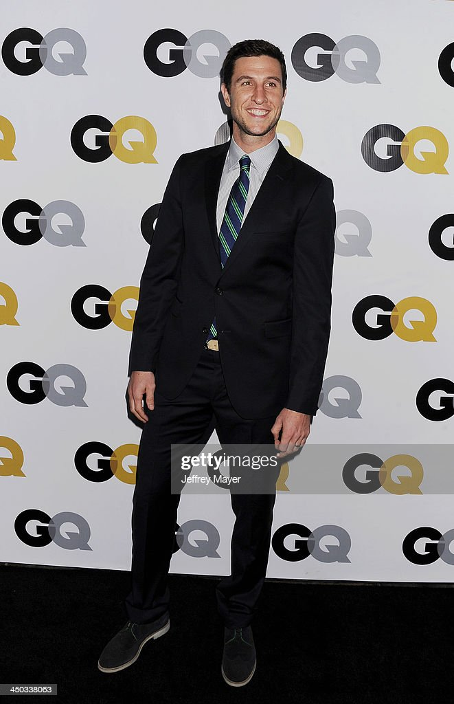Actor <a gi-track='captionPersonalityLinkClicked' href=/galleries/search?phrase=Pablo+Schreiber&family=editorial&specificpeople=683536 ng-click='$event.stopPropagation()'>Pablo Schreiber</a> arrives at the 2013 GQ Men Of The Year Party at The Ebell of Los Angeles on November 12, 2013 in Los Angeles, California.