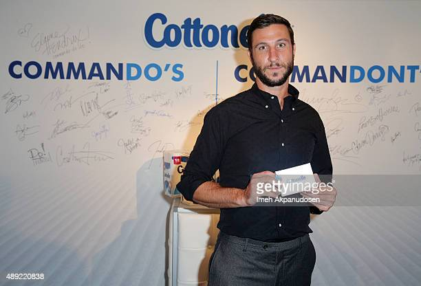"""Actor Pablo Schreiber attends Cottonelle Dares Celebrities to """"Go Commando"""" at EXTRA's 'WEEKEND OF 