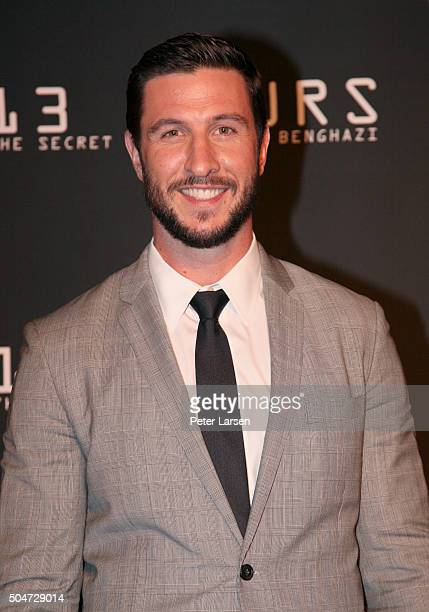 Actor Pablo Schreiber attends the Dallas Premiere of the Paramount Pictures film '13 Hours The Secret Soldiers of Benghazi' at the ATT Dallas Cowboys...