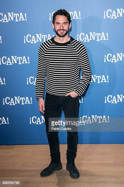 Actor Paco Leon attends 'Canta' photocall at Urso Hotel on December 20 2016 in Madrid Spain