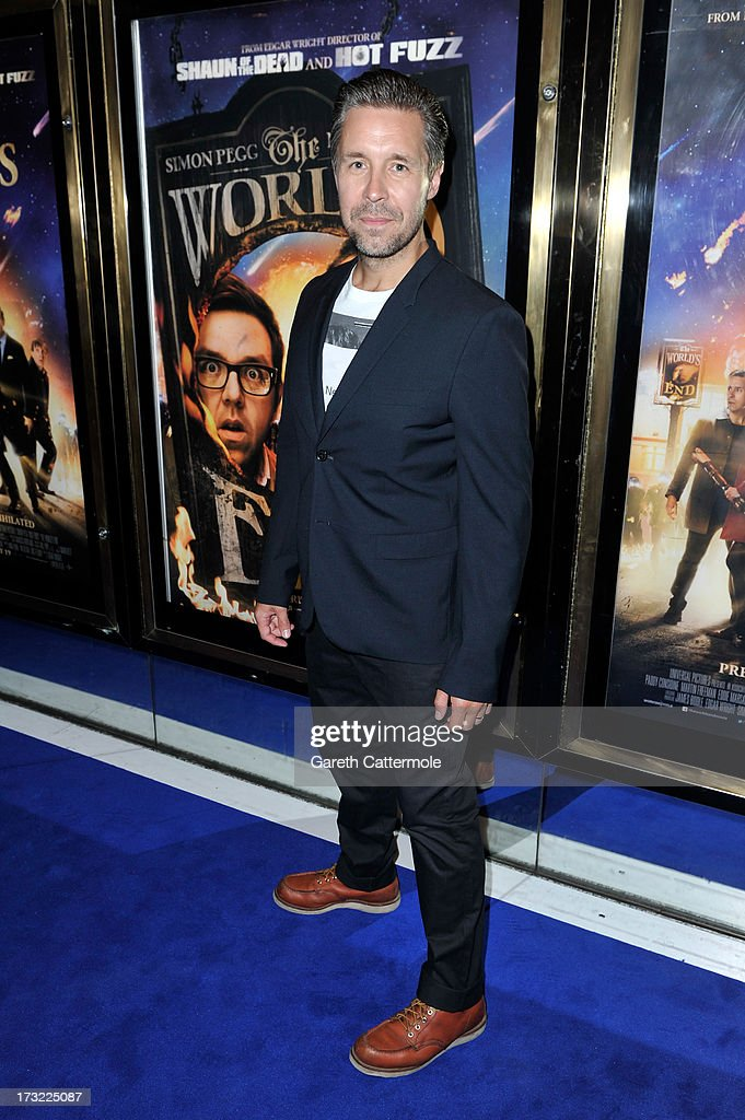 Actor Paddy Considine attends the World Premiere of The World's End at Empire Leicester Square on July 10, 2013 in London, England.