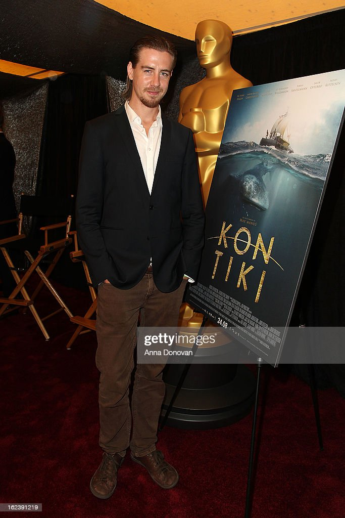 Actor Pal Sverre Valheim Hagen of the film 'Kon-Tiki' attends the 85th annual Academy Awards Foreign Language Film Award photo-op held at the Dolby Theatre on February 22, 2013 in Hollywood, California.