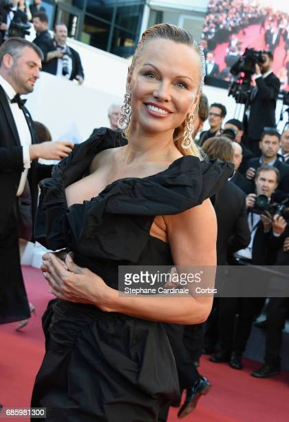 Actor Pamela Anderson attends the '120 Beats Per Minute ' premiere during the 70th annual Cannes Film Festival at Palais des Festivals on May 20 2017...