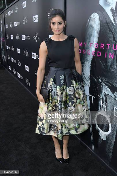 Actor Paola Nunez attends AMC's 'The SON' premiere at ArcLight Hollywood on April 3 2017 in Hollywood California