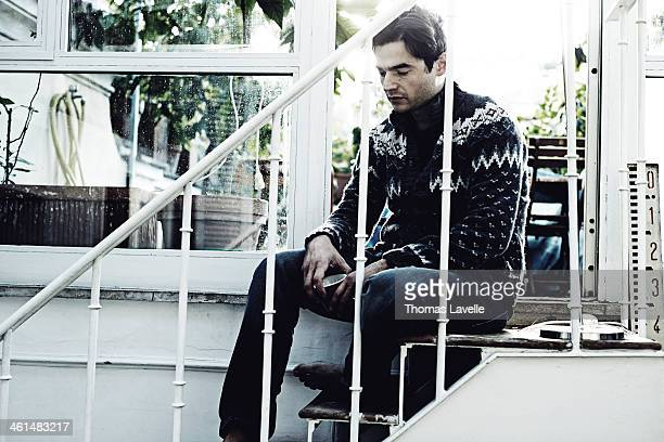 Actor Paolo Brigulia is photographed for Self Assignment during the 8th Rome Film Festival on November 9 2013 in Rome Italy