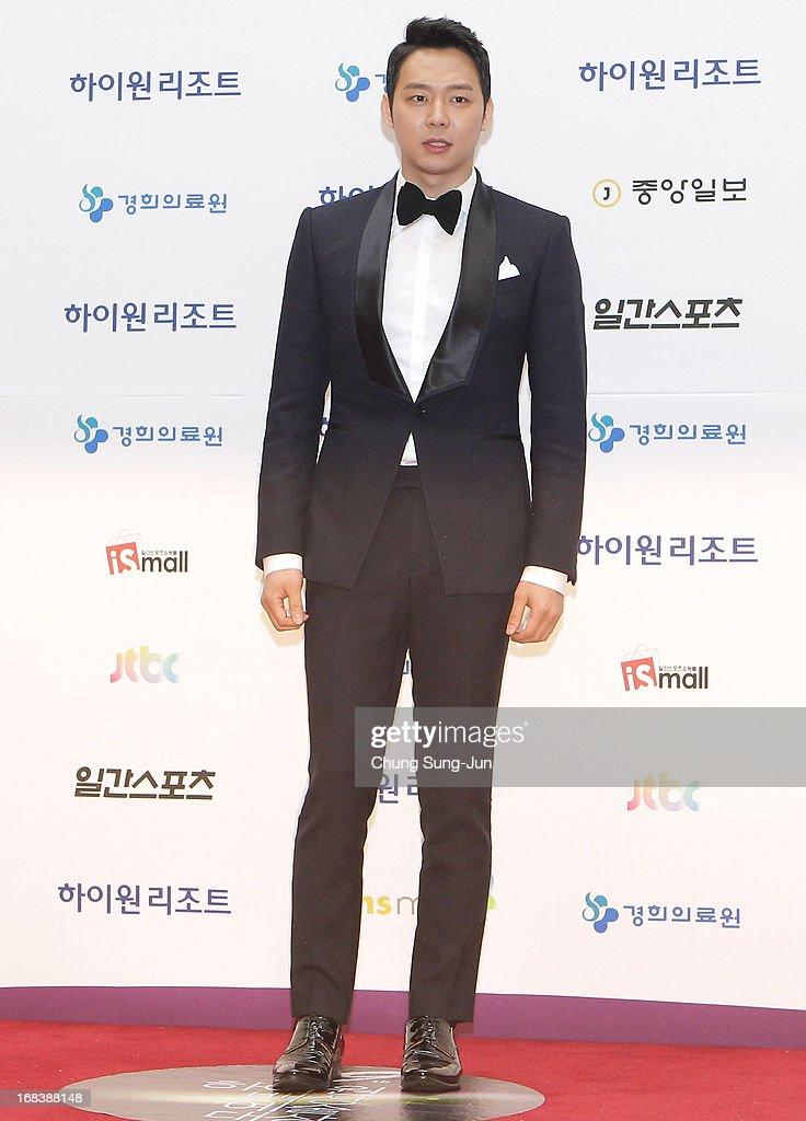 Actor Park YooChun arrives for the 49th Paeksang Arts Awards on May 9 2013 in Seoul South Korea