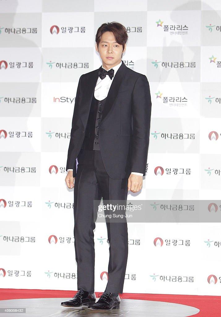 Actor Park YooChun arrives for the 51st Daejong Film Awards on November 21 2014 in Seoul South Korea