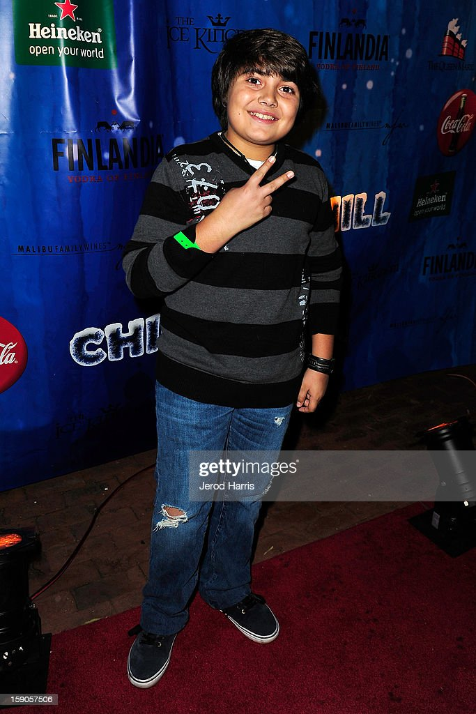 Actor Parker Contreras arrives at the CHILL-OUT closing night concert at The Queen Mary on January 6, 2013 in Long Beach, California.