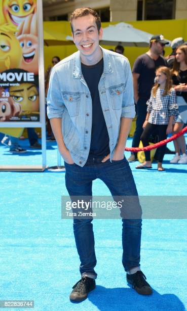 Actor Parker Coppins attends the premiere of Columbia Pictures and Sony Pictures Animation's 'The Emoji Movie' at Regency Village Theatre on July 23...