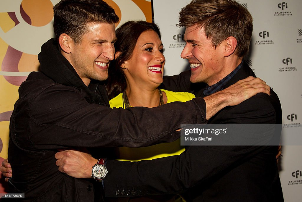 Actor Parker Young, director <a gi-track='captionPersonalityLinkClicked' href=/galleries/search?phrase=Chris+Lowell&family=editorial&specificpeople=880311 ng-click='$event.stopPropagation()'>Chris Lowell</a> and actress <a gi-track='captionPersonalityLinkClicked' href=/galleries/search?phrase=Angelique+Cabral&family=editorial&specificpeople=7628156 ng-click='$event.stopPropagation()'>Angelique Cabral</a> are arriving to the premiere of 'Beside Still Waters' on October 12, 2013 in Mill Valley, California.
