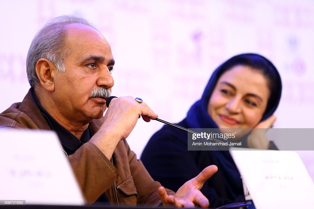 Actor Parviz Parastouei attends a press conference as part of the 34rd Fajr International Film Festival on February 6, 2016 in Tehran, Iran.