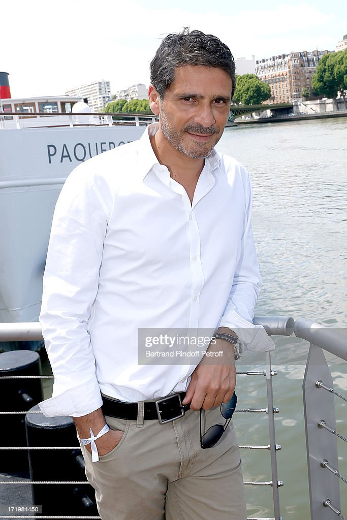 Actor Pascal Elbe attends 'Brunch Blanc' hosted by Groupe Barriere for Sodexho with a cruise in Paris on June 30, 2013, France.