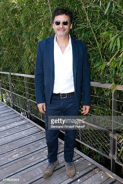 Actor Pascal Elbe attends the 2015 Roland Garros French Tennis Open at Roland Garros on May 24 2015 in Paris France
