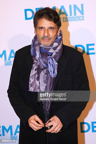 Actor Pascal Elbe attends the 'Demain Tout Commence' Paris Premiere at Cinema Le Grand Rex on November 28 2016 in Paris France
