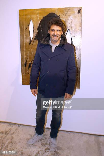 Actor Pascal Elbe attends the 'New American Art' Exhibition of Artists Matthew Day Jackson and Rashid Johnson Opening Cocktail at Studio des Acacias...