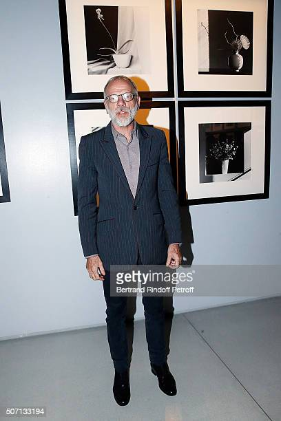 Actor Pascal Greggory attends XYZ Exhibition Curated By Peter Marino at Thaddeus Ropac Gallery on January 27 2016 in Paris France