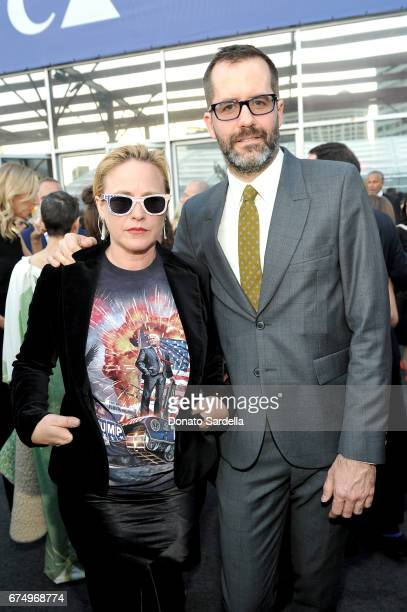 Actor Patricia Arquette and artist Eric White at the MOCA Gala 2017 honoring Jeff Koons at The Geffen Contemporary at MOCA on April 29 2017 in Los...